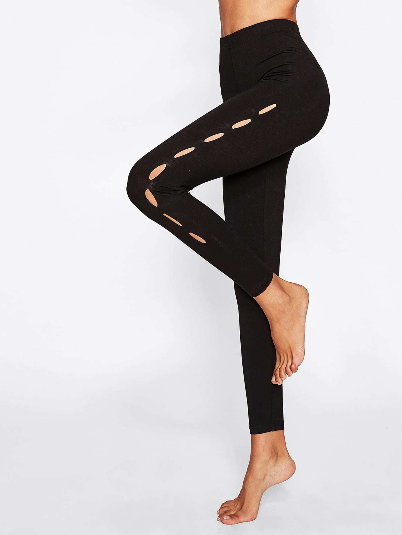 Cutout Side Leggings leggings170807703