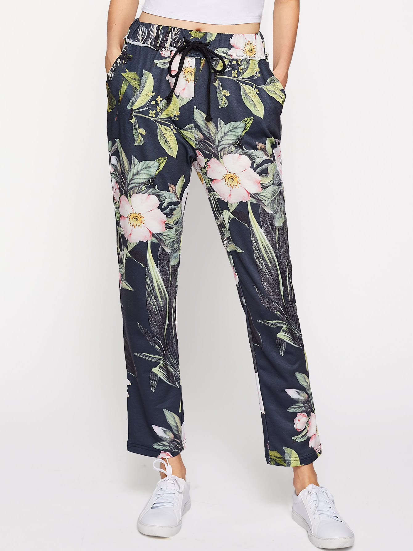 Купить Модные брюки с цветочным принтом, Zoranaa, SheIn