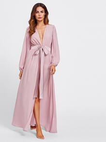 Sash Tie Waist Cover Up Dress