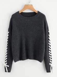 Pullover mit Whipstitch Detail