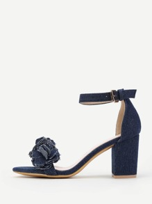 Flower Design Two Part Sandals