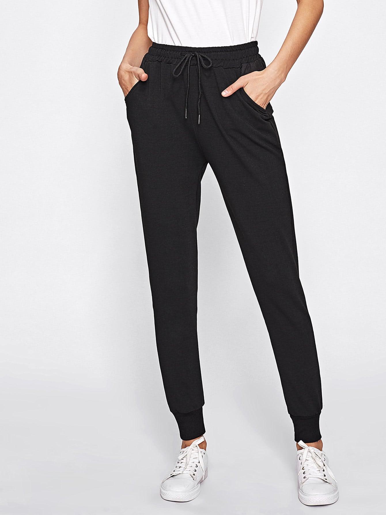 Drawstring Waist Sweatpants pants170809101