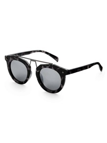 Top Bar Leopard Frame Sunglasses