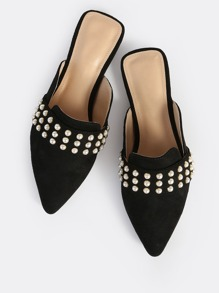 Beaded Band Loafers BLACK
