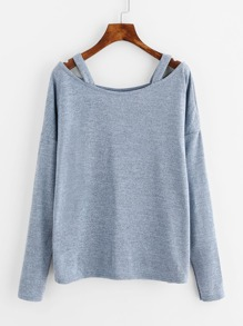 Cut Out Neck T-shirt