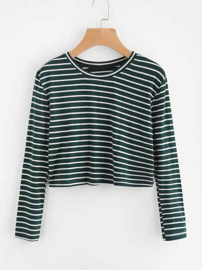 Striped Crop Tshirt