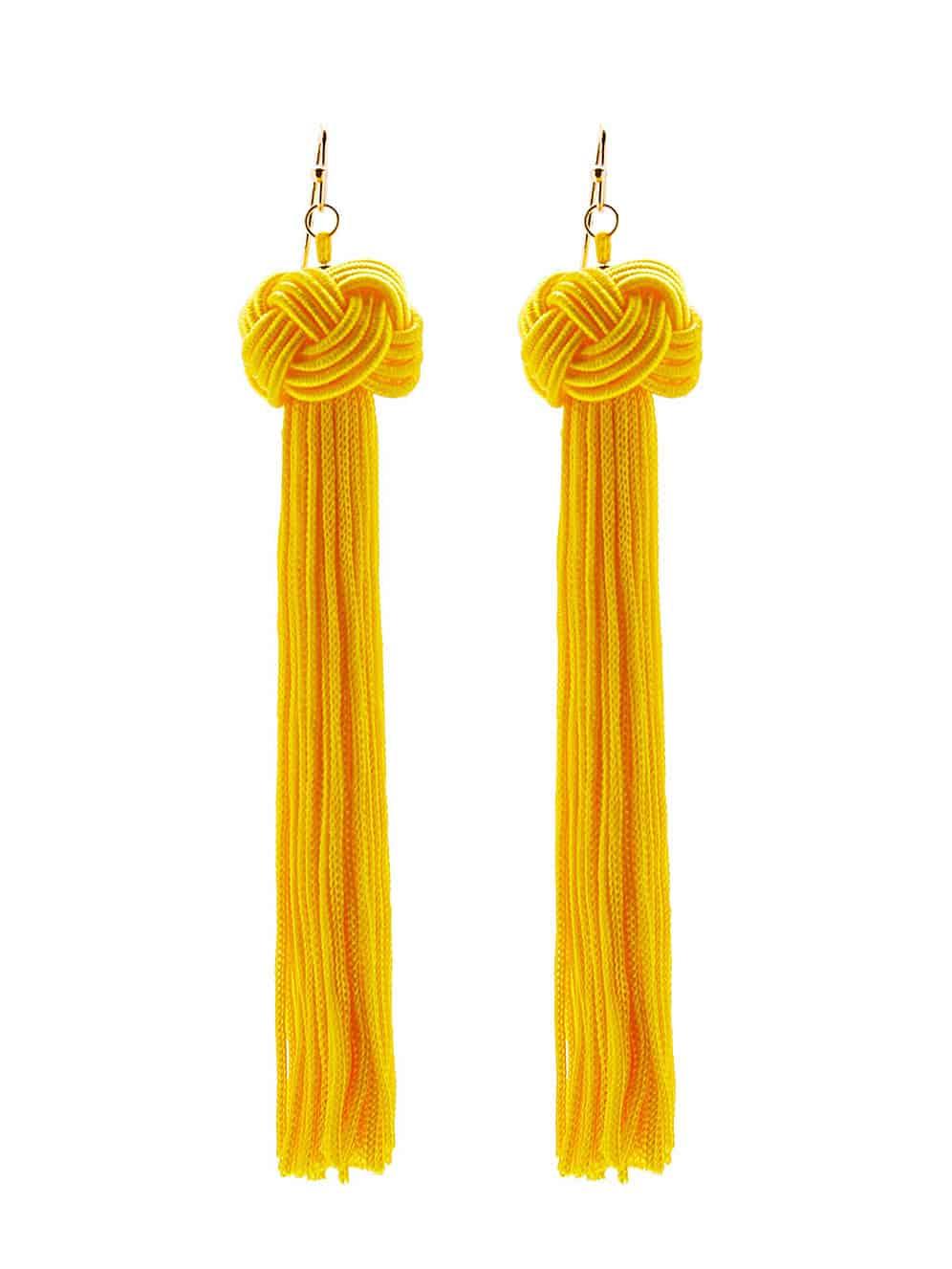 Statement Tassel Drop Earrings statement rhinestone tassel dangle earrings
