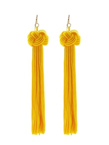 Statement Tassel Drop Earrings