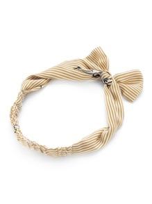 Pinstripe Bow Tie Headband