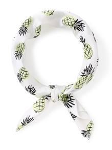 Bandana imprimé des ananas en satin