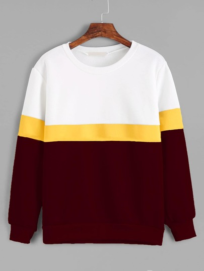 Cut And Sew Panel Sweatshirt