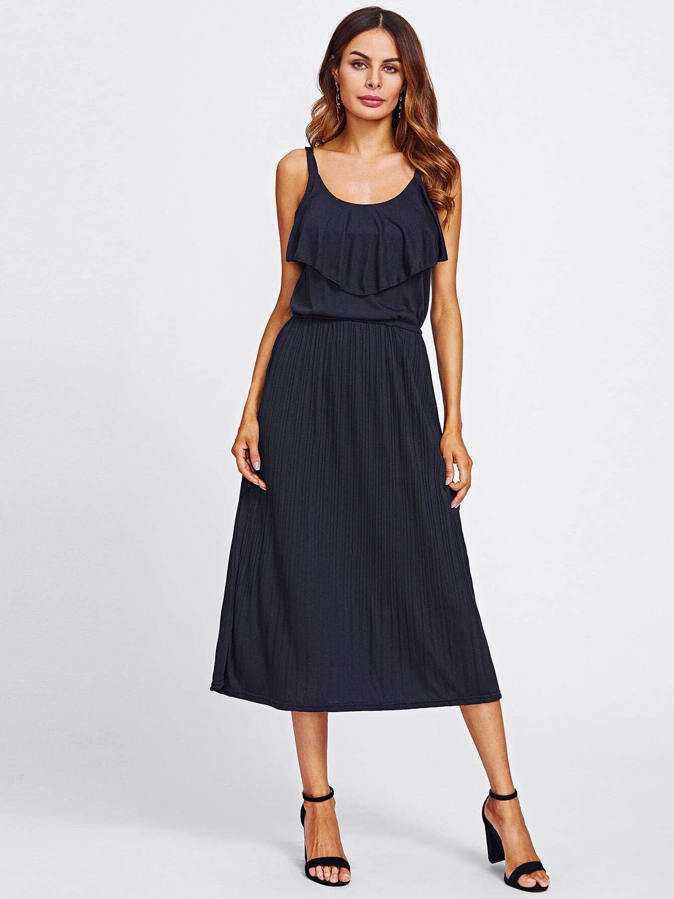 Frill Layered Pleated Dress