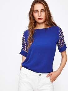 Laser Cut Sleeve Blouse