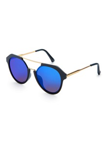 Top Bar Flash Lens Sunglasses