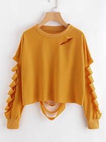Sweat-shirt avec découpé d\'échelle