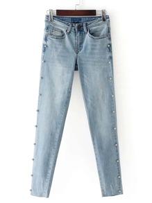 Beaded Embellished Skinny Jeans