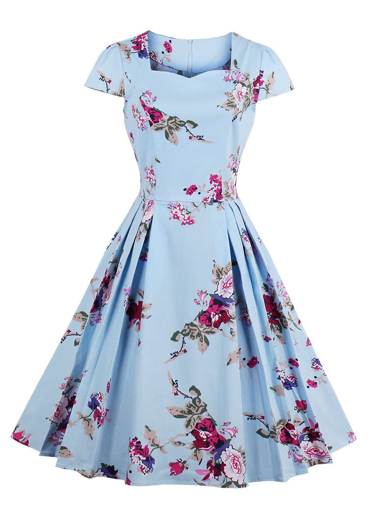 All Over Florals Circle Dress all over florals hanky hem dress