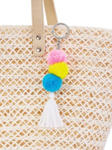 Tassel & Pom Pom Keychain