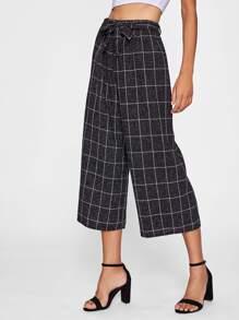Gitternetz Culotte Hose mit Schleife um die Taille