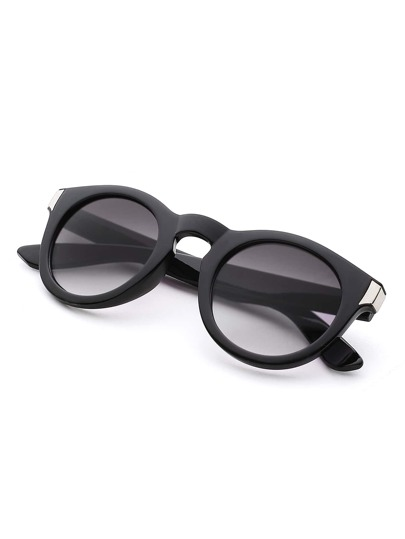 Metal Detail Round Sunglasses