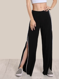 Side Striped Pants BLACK