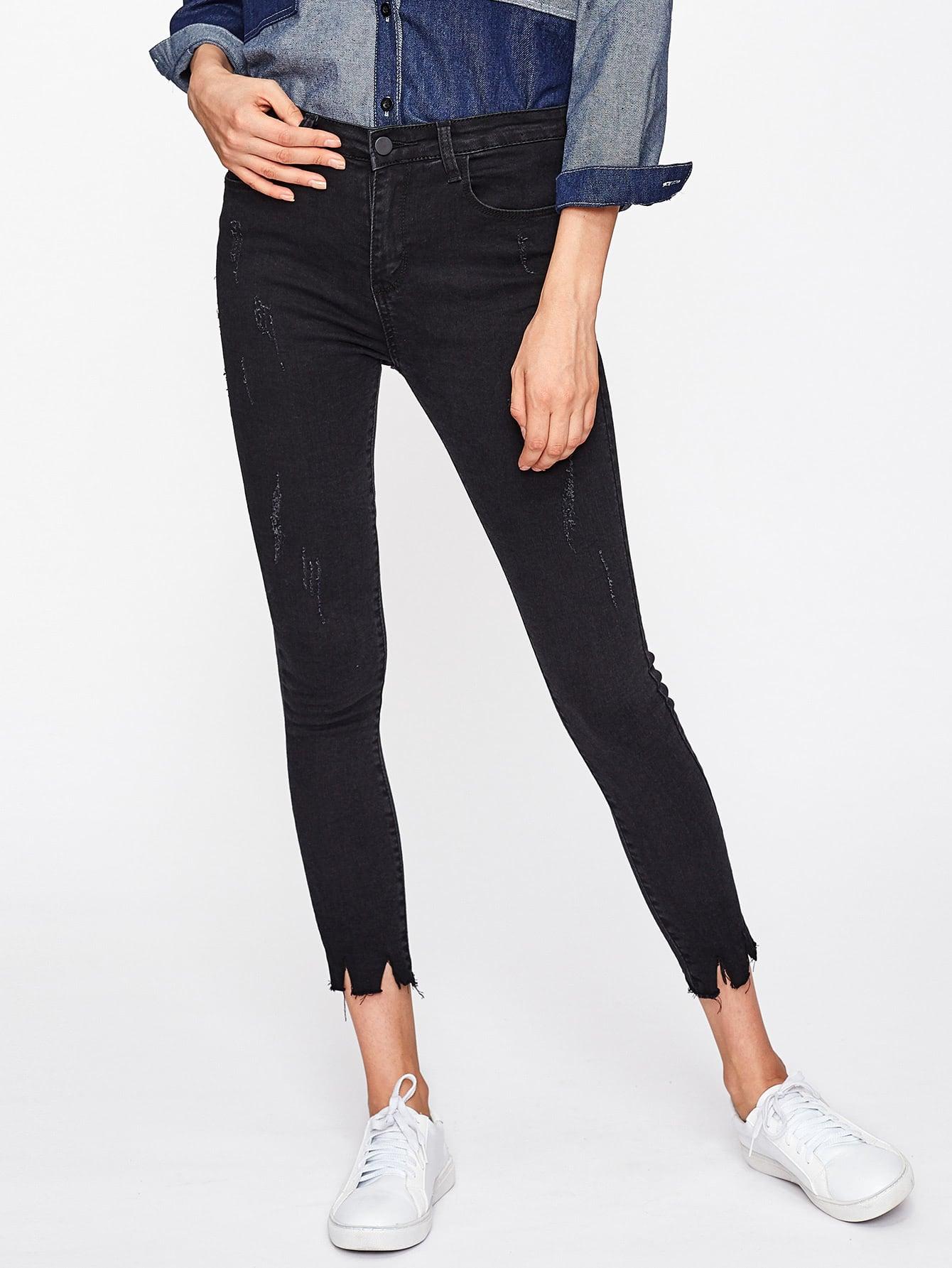 Frayed Hem Skinny Jeans директ бокс behringer ultra di di600p