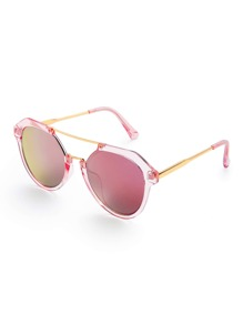 Top Bar Clear Frame Sunglasses
