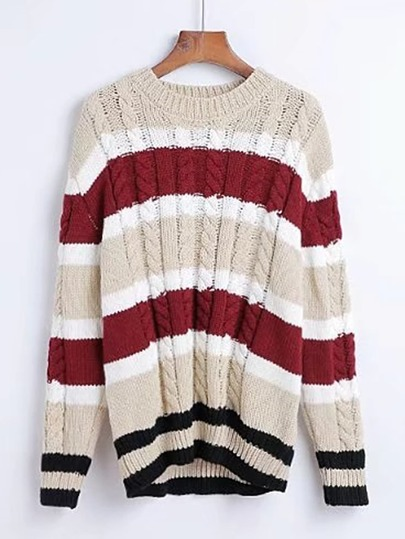 Cable Knit Slouchy Sweater