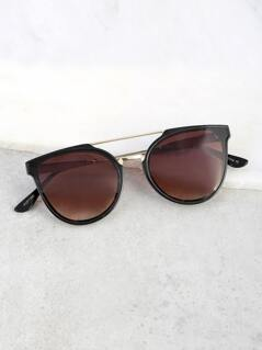 Double Bar Wayfarer Sunnies BROWN