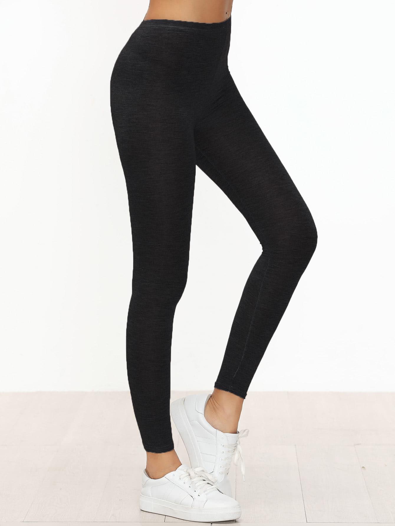 Black Skinny Casual Leggings empire skinny leggings