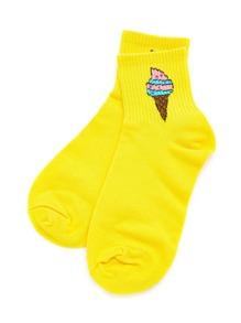 Ice Cream Print Ankle Socks