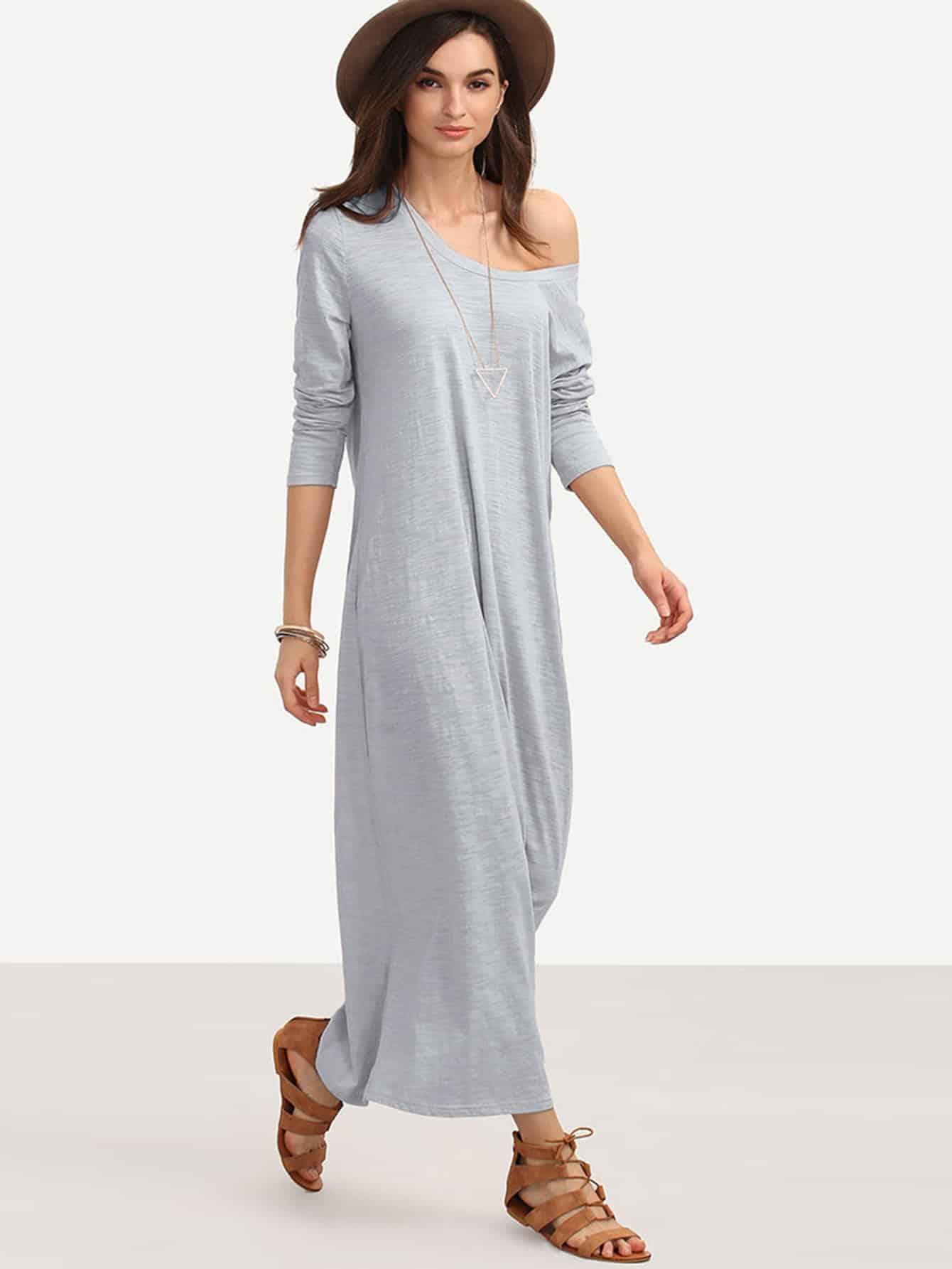 Full Length Slub Tee Dress