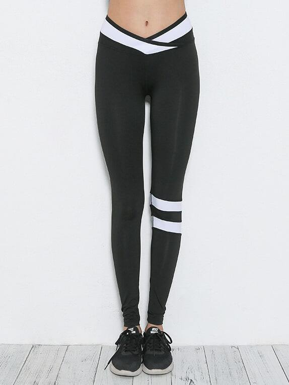 Image of Active Contrast Paneled Leggings