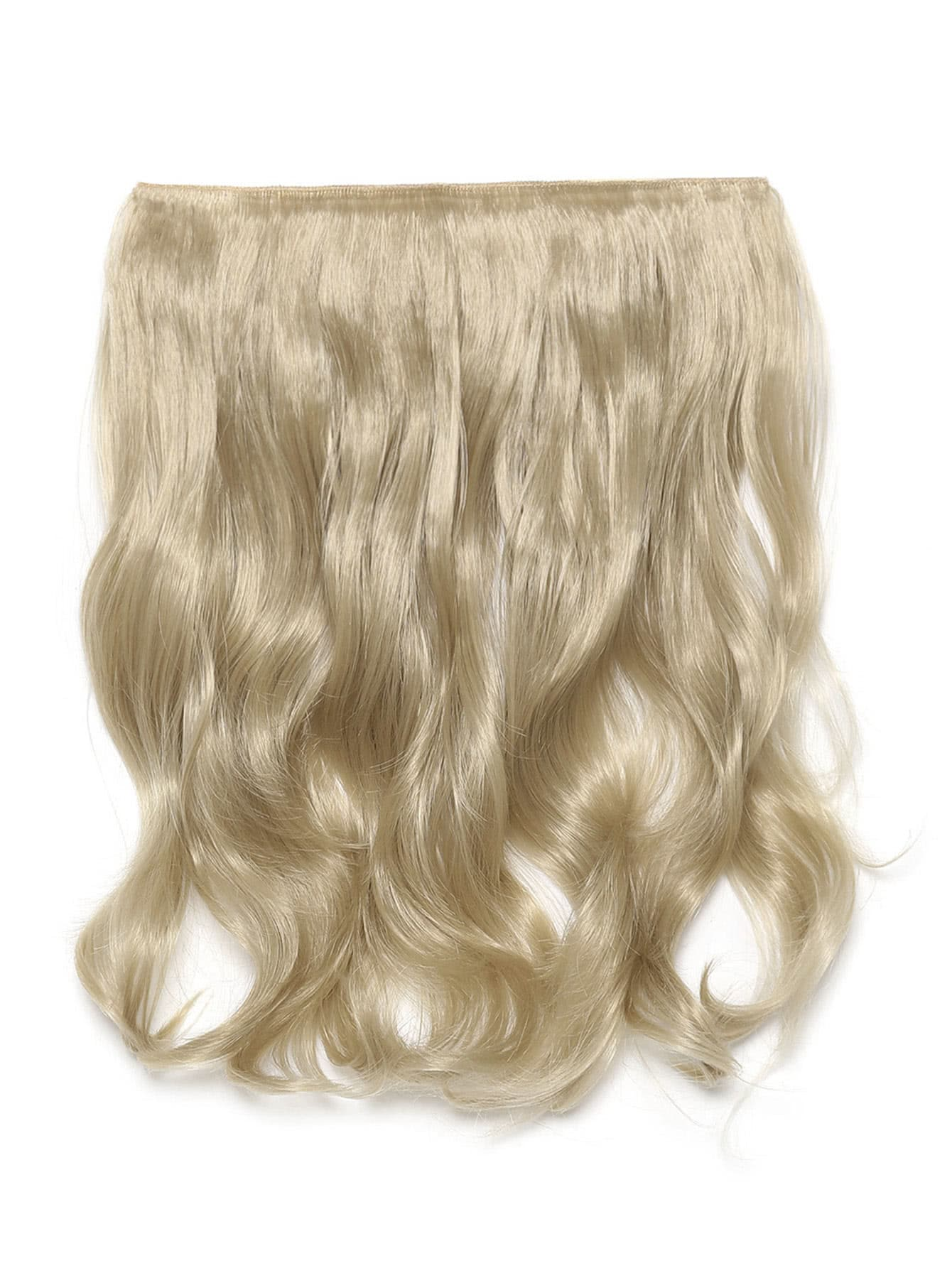 Light Golden Blonde Clip In Soft Wave Hair Extension light blonde clip in soft wave hair extension 5pcs