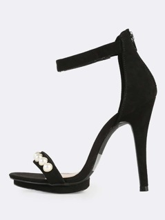 Pearl Band Heels BLACK