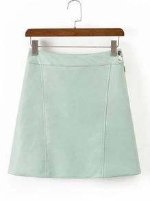 Seam Detail PU Skirt