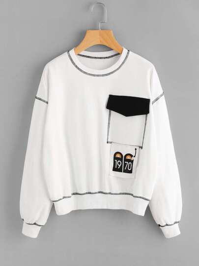Sweat-shirt avec poche