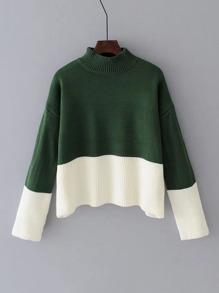 Maglione pullover a due toni