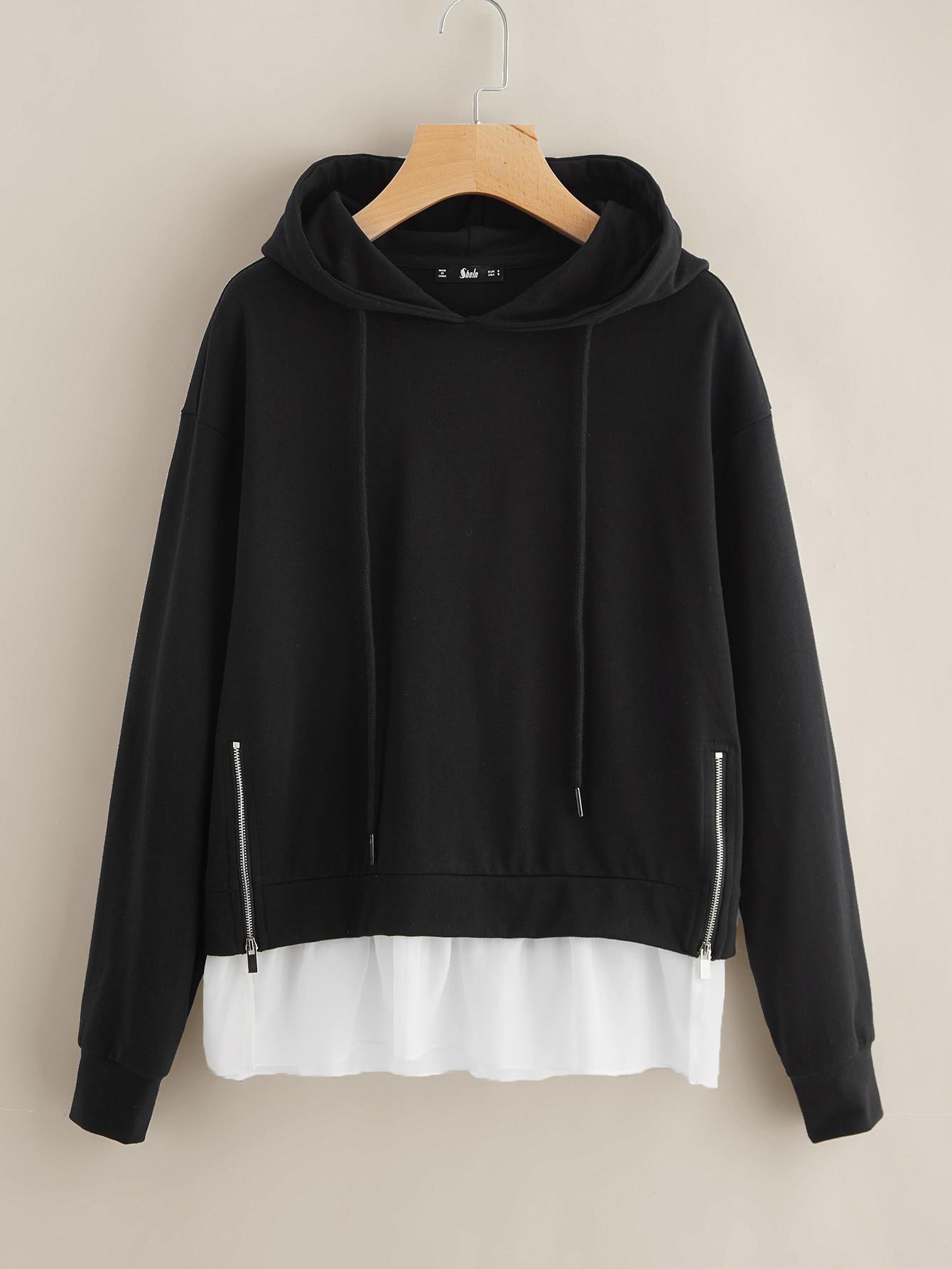 Dual Zip Front Hoodie sweatshirt170727706