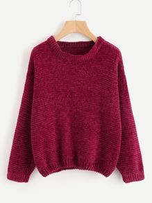 Waffle Knit Chenille Sweater