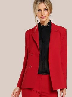 Solid Dress Blazer TOMATO