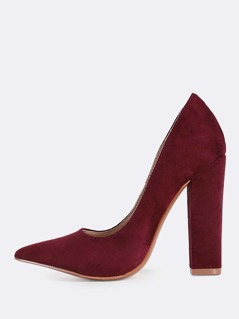 Solic Point Toe Heels WINE