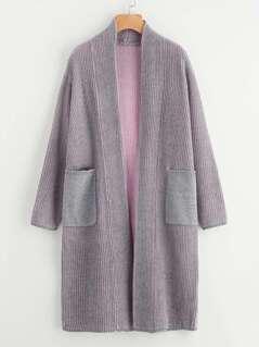 Contrast Inside Sweater Coat