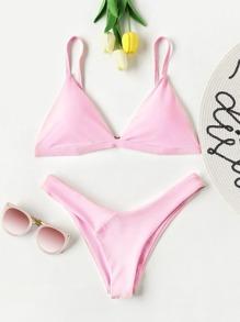 Ensemble de bikini triangle cuisse haute