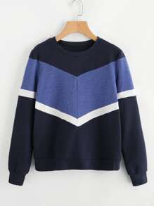 Cut And Sew Chevron Sweatshirt