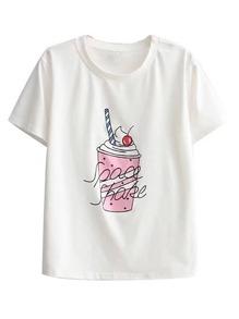 Ice Cream Print Tee