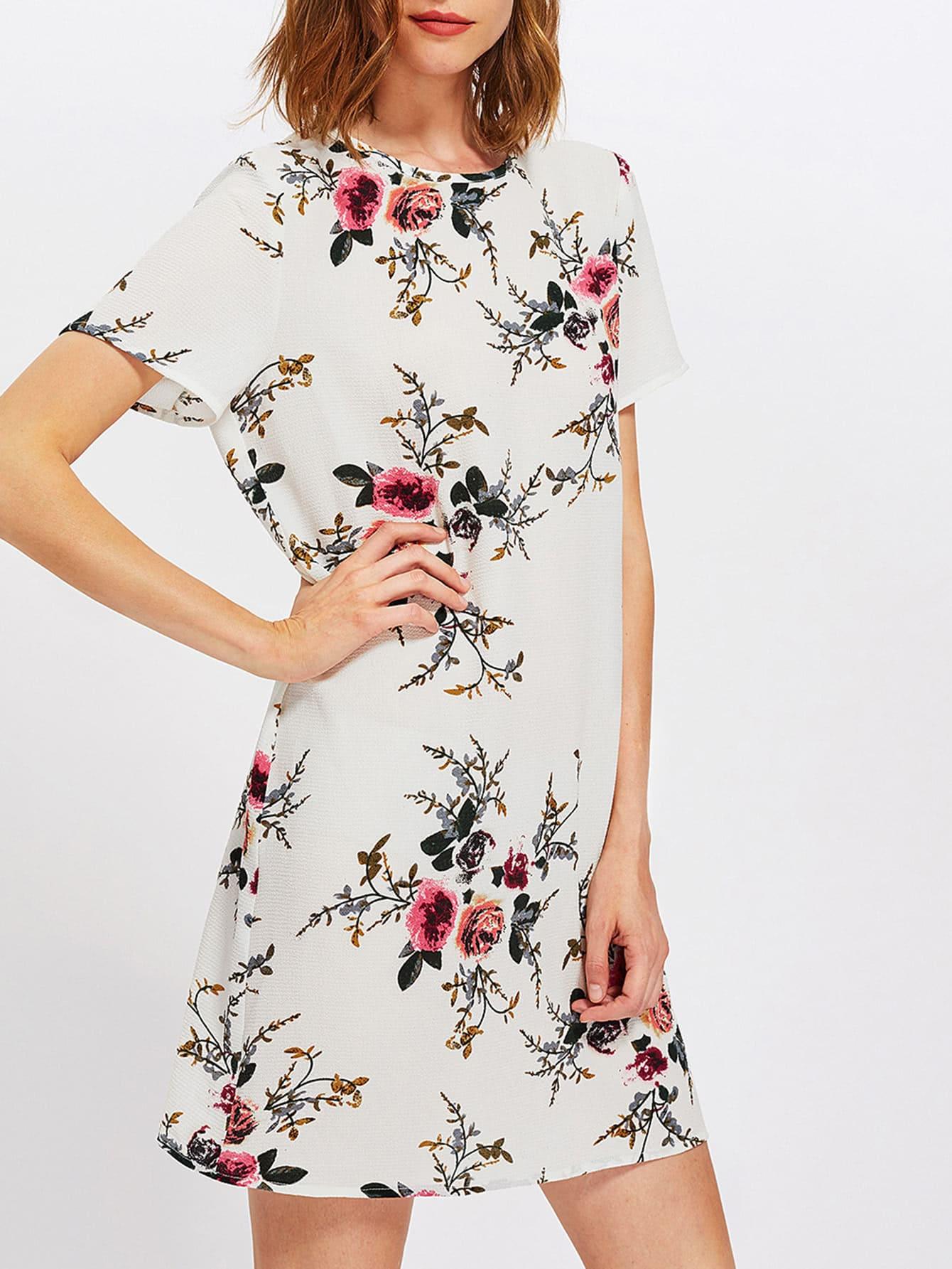 Купить Модное платье с цветочным принтом, Zoranaa, SheIn