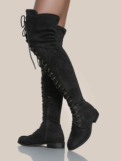OTK Lace Up Boots BLACK