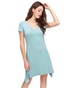 V-Neckline Tee Dress