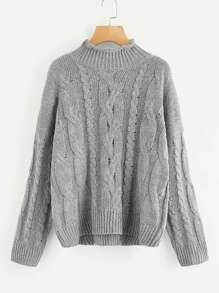 Solid Cable Knit Jumper